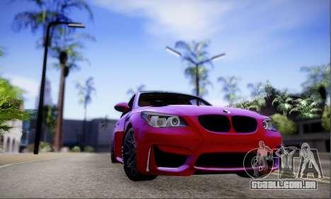 BMW M5 E60 Huracan para GTA San Andreas esquerda vista