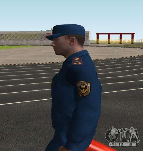 O Coronel EMERCOM da Rússia para GTA San Andreas terceira tela
