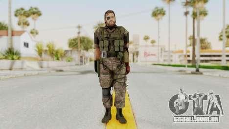MGSV The Phantom Pain Venom Snake Woodland para GTA San Andreas segunda tela