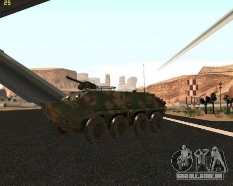 BTR 60 PA para GTA San Andreas vista interior