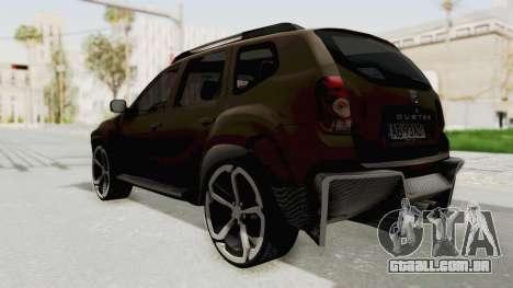 Dacia Duster 2010 Tuning para GTA San Andreas esquerda vista