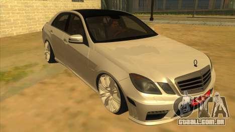 Mercedes Benz E250 Ferramenta De Autoridade para GTA San Andreas vista traseira