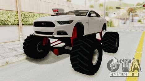 Ford Mustang GT 2015 Monster Truck para GTA San Andreas vista direita