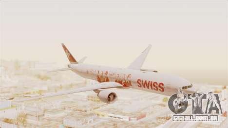 Boeing 777-300ER Faces of SWISS Livery para GTA San Andreas traseira esquerda vista