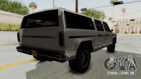 New Rancher para GTA San Andreas esquerda vista