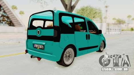 Fiat Fiorino Hellaflush v1 para GTA San Andreas traseira esquerda vista