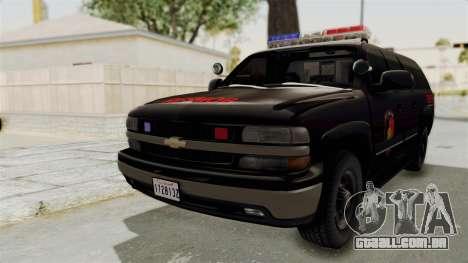 Chevrolet Suburban Indonesian Police RESMOB Unit para GTA San Andreas traseira esquerda vista
