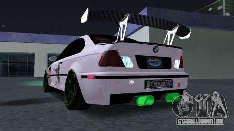 BMW M3 E46 JDM para GTA San Andreas vista direita