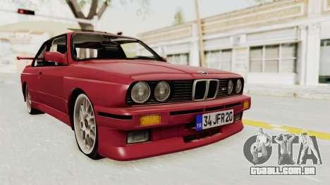 BMW M3 E30 1988 para GTA San Andreas