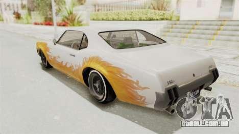 GTA 5 Declasse Sabre GT2 IVF para GTA San Andreas vista superior