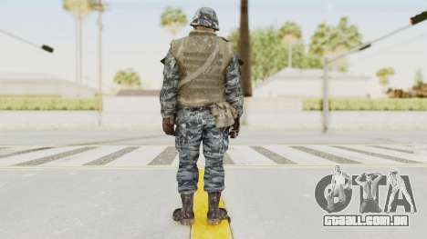 COD BO Russian Spetznas Flak MP v2 para GTA San Andreas terceira tela