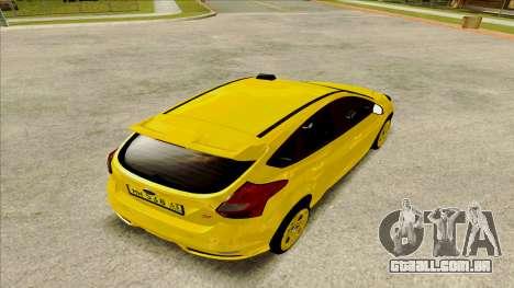 Ford Focus Taxi para GTA San Andreas esquerda vista