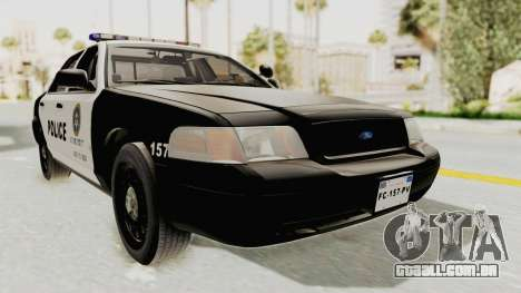 Ford Crown Victoria SFPD para GTA San Andreas vista direita