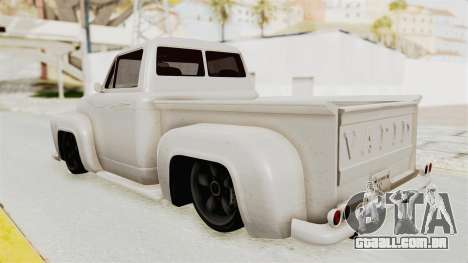 GTA 5 Slamvan Stock para GTA San Andreas esquerda vista