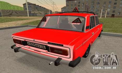 VAZ 2106 Formação para GTA San Andreas esquerda vista