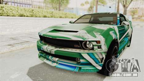 GTA 5 Vapid Dominator v2 SA Lights para GTA San Andreas