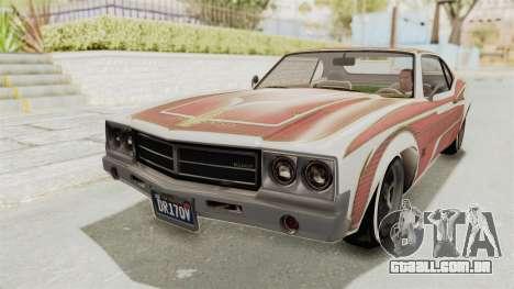 GTA 5 Declasse Sabre GT2 IVF para GTA San Andreas vista inferior