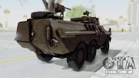 Ratel Command para GTA San Andreas traseira esquerda vista