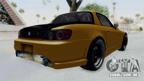 Honda S2000 S2K-AP1 para GTA San Andreas traseira esquerda vista