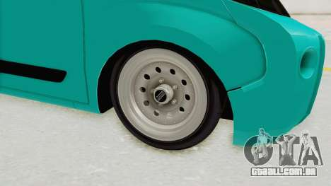 Fiat Fiorino Hellaflush v1 para GTA San Andreas vista traseira