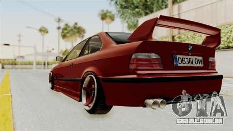 BMW 325i E36 Coupe para GTA San Andreas esquerda vista