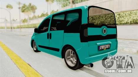 Fiat Fiorino v2 para GTA San Andreas traseira esquerda vista