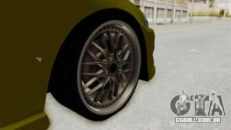 Honda Civic Fast and Furious para GTA San Andreas vista traseira