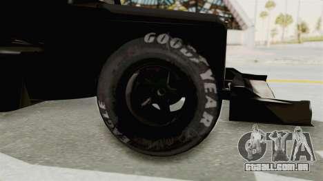 Ford 32 F1 para GTA San Andreas vista traseira