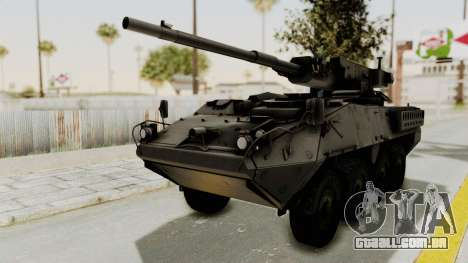 M1128 Mobile Gun System IVF para GTA San Andreas traseira esquerda vista