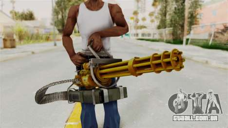 Minigun Gold para GTA San Andreas terceira tela