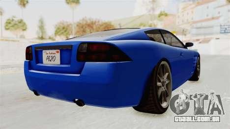 GTA 5 Ocelot F620 IVF para GTA San Andreas vista direita