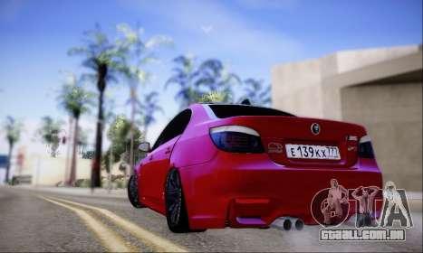 BMW M5 E60 Huracan para GTA San Andreas vista direita