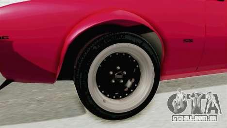 Chevrolet Camaro SS 1968 para GTA San Andreas vista traseira