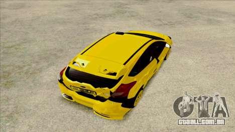 Ford Focus Taxi para GTA San Andreas vista traseira