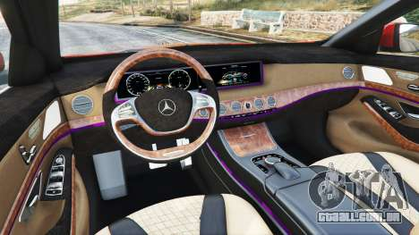 GTA 5 Mercedes-Benz S500 (W222) [bridgestone] v2.1 frente vista lateral direita