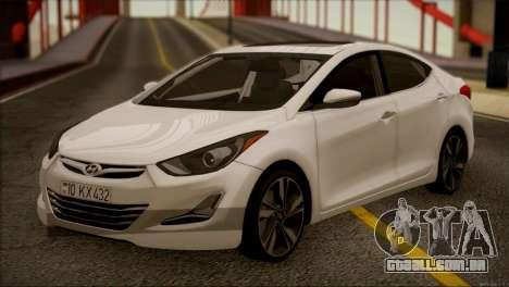 Hyundai ELANTRA 2015 STOCK para GTA San Andreas esquerda vista