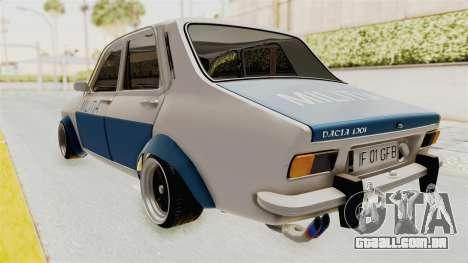 Dacia 1300 Stance Police para GTA San Andreas traseira esquerda vista
