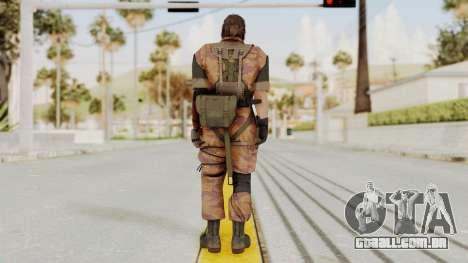 MGSV The Phantom Pain Venom Snake No Eyepatch v5 para GTA San Andreas terceira tela