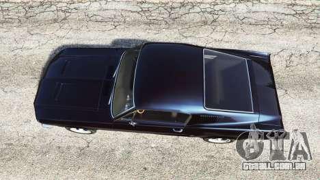 GTA 5 Ford Mustang 1968 v1.1 voltar vista