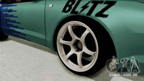 Toyota Celica GT Drift Falken para GTA San Andreas vista traseira