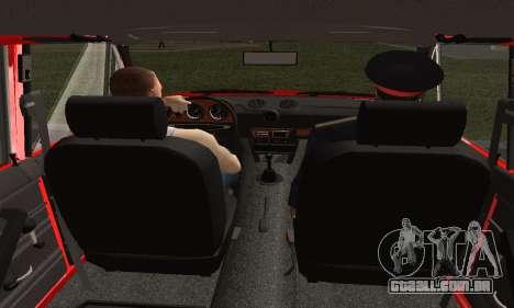 VAZ 2106 Formação para GTA San Andreas traseira esquerda vista