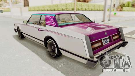 GTA 5 Dundreary Virgo Classic Custom v2 para as rodas de GTA San Andreas