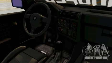 BMW M3 E30 para GTA San Andreas vista interior
