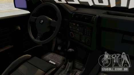 BMW M3 E30 para GTA San Andreas vista interior