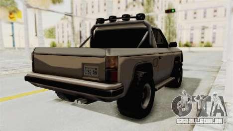 Rancher Style Bronco para GTA San Andreas traseira esquerda vista