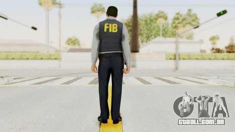 GTA 5 F.I.B. Ped para GTA San Andreas terceira tela