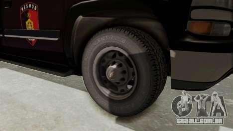 Chevrolet Suburban Indonesian Police RESMOB Unit para GTA San Andreas vista traseira