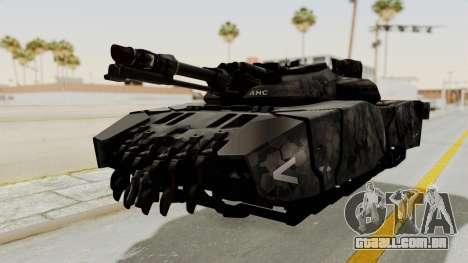 T-470 Hover Tank para GTA San Andreas traseira esquerda vista
