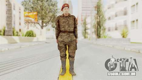 MGSV The Phantom Pain Soviet Union Commander para GTA San Andreas segunda tela