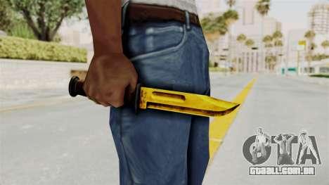 Knife Gold para GTA San Andreas terceira tela